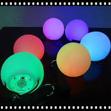 glow balls 1pcs pro led multicolored glow poi thrown balls light up for belly