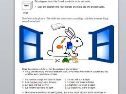 prepositions and furniture ks3 french by maryjane1969 teaching