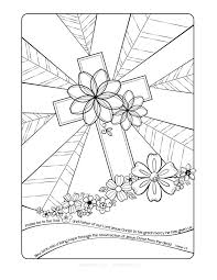 resurrection cross coloring page http designkids info