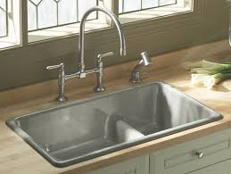 kohler smart divide undermount sink stainless kohler vault smart divide kitchen sink dual mount sink 18 gauge