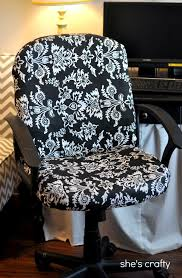 computer chair cover shes crafty recovered office chair let s recover our