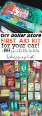 diy dollar store first aid kit for your car free printable