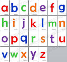 printable alphabet letter cards colorful lower case alphabet flash cards sixe 3x5 free printable