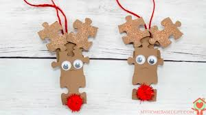 rudolph puzzle ornaments give puzzle pieces new