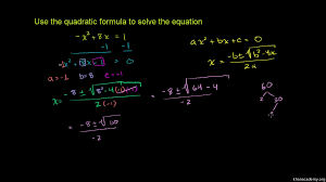 solve quadratic equations with the quadratic formula practice