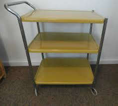 Kitchen Utility Cart by Vintage Metal 3 Tier Rolling Kitchen Utility Cart Midcentury
