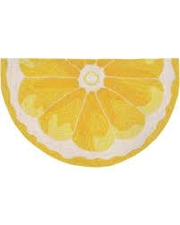 Half Circle Kitchen Rugs Christmas Savings On Lemon Slice Kitchen Rug Yellow