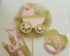 Royal Crown Centerpieces by Princess Baby Shower Cupcake Toppers Princess Crown Theme Shower