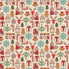 cool christmas wrapping paper christmas background seamless tiling vector illustration stock