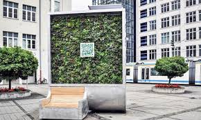 solar powered moss wall cleans the air as much as 275 trees