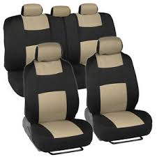 seat covers ford fusion car seat covers for ford fusion 2 tone beige black w split