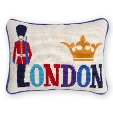 needlepoint throw pillow throw pillows jonathan adler