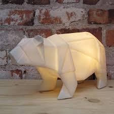 white polar bear lamp bedside cabinet polar bear and shelves