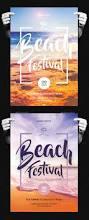 beach festival flyer photoshop beach and flyer template
