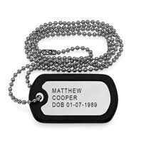 Engraved Dog Tag Necklace Stainless Steel Personalized Custom Dog Tag Necklace South Africa