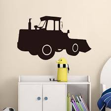 construction truck 18 wall decals dump log tractor signs room tractor wall stickers