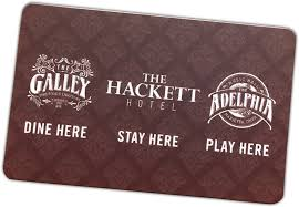 hotel gift card gift cards the galley the adelphia the hackett hotel