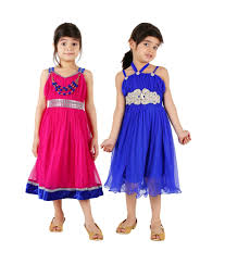 tiny toon multi color pack of 2 beautiful dresses for kids buy