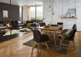sofa esstisch braunes ledersofa bilder ideen couchstyle