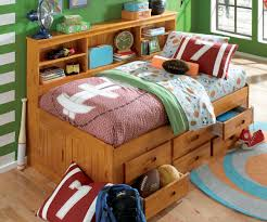 discovery world daybed bookcase full with storage and trundle in honey pine daybed bookcase full