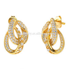 gold earings saudi gold jewelry 18k solid gold earring unique design gold stud