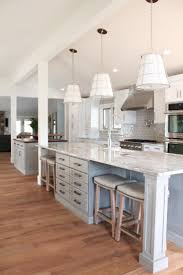 Kitchens With Different Colored Islands by Best 25 Double Island Kitchen Ideas Only On Pinterest Kitchens