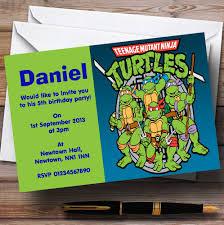 teenage mutant ninja turtles personalised children u0027s birthday