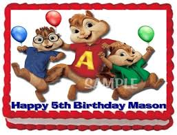 alvin and the chipmunks cake toppers ebluejay alvin and the chipmunks cake topper edible birthday