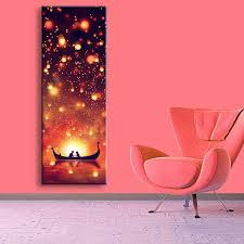 2017 modern wall led canvas prints two on the boat led