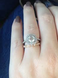 silver engagement ring gold wedding band my engagement ring is different from my wedding rings