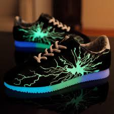 light up sole shoes sale new arrival fashion mesh fluorescent casual luminous shoes