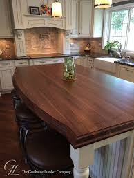 wood tops for kitchen islands custom walnut kitchen island countertop in columbia maryland