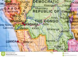 Republic Of Congo Map Democratic Republic Of The Congo Country Map Stock Illustration