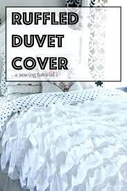 White Ruffle Duvet Cover Queen White Ruffle Duvet Cover Target Ruffle Duvet Covers King Light