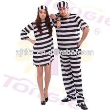 Halloween Inmate Costume Stripe Prisoner Costume Halloween Cosplay Costumes