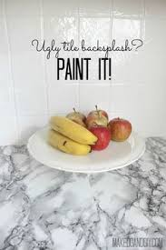 painting kitchen backsplash how i transformed my kitchen with paint painted tiles and