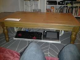 Fold Out Coffee Table Fold Out Under Table Storage Rack 6 Steps