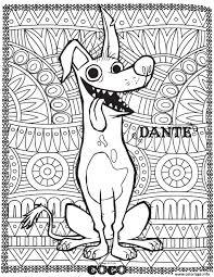 Coloriage Disney Coco Dante Fond Mandala Adulte dessin