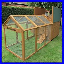 Rabbit Hutch With Large Run Savoy Single With Run Large Deluxe Chicken Coop Rabbit Hutch Nest