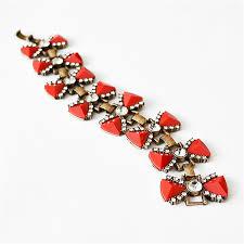 red crystal bracelet images Red bow bracelet cuff bracelet bangle bracelet crystal bracelet jpg