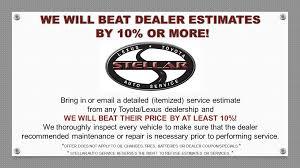 lexus service in tulsa specials stellar auto service