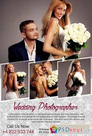 wedding photographer psd flyer template facebook cover free