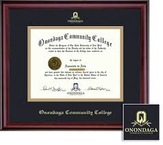 college diploma frame onondaga community college bookstore framing success classic