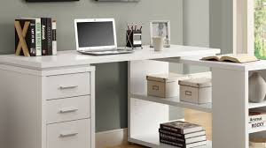 Black Desk With File Drawer Black Corner Desk With Drawers Natural L Shaped Wooden Varnished