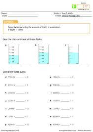 primaryleap co uk measuring capacity worksheet