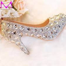cheap silver wedding shoes free shipping buy best silver wedding shoes clear rhinestone