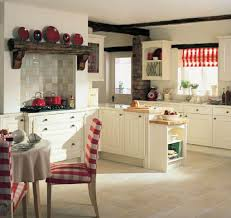 kitchen vintage white french kitchen with sandstone backsplash