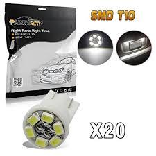 dashboard led light bulbs amazon com partsam t10 pc194 2825 led light bulb 168 led bulbs