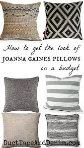 joanna gaines fabric how to get the look of joanna gaines pillows on a budget