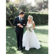 boho chic ashley tisdale gets married in classic wedding dress